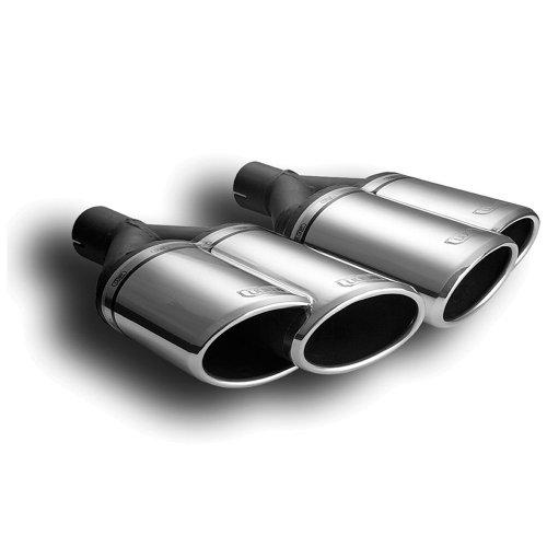 Ulter Sport N2-56L* Sportauspuff / Auspuffblende, Doppelendrohr, oval, links oder rechts, 160 x 65 x 200, exkl. Schalldämpfer Material: Edelstahl