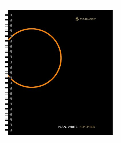AT-A-GLANCE 2014 Plan, Write, Remember Planning Notebook with Reference Calendars, Black, 9.68 x 11.25 x .63 Inches (70-6209-05)