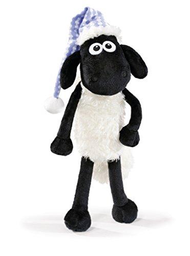 NICI 41464 Shaun das Schaf Kuscheltier mit Schlafmütze, 25 cm, Farbe: Weiß/Schwarz