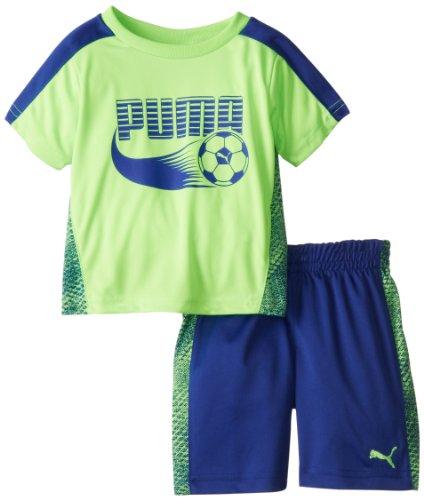 PUMA Baby Boys' Soccer Set, Green Gecko, 18 Months