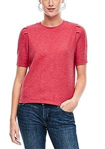 Q/S designed by - s.Oliver Damen Shirt mit Puffärmeln light red melange XL