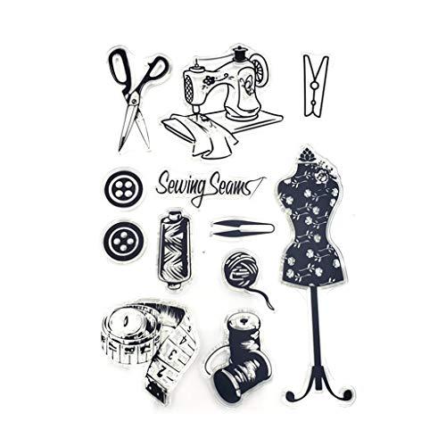 Angelliu - Sello Transparente para Manualidades, Costura, Scrapbooking, álbum de Fotos, Papel Decorativo, Tarjetas artesanales