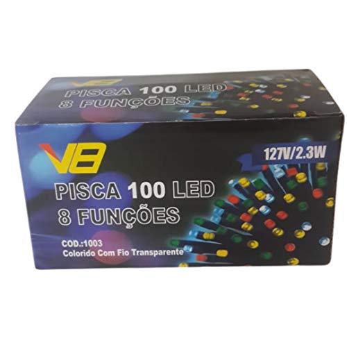 Pisca 100 Led Colorido Luz Enfeite Para Árvore De Natal 127v 2.3w