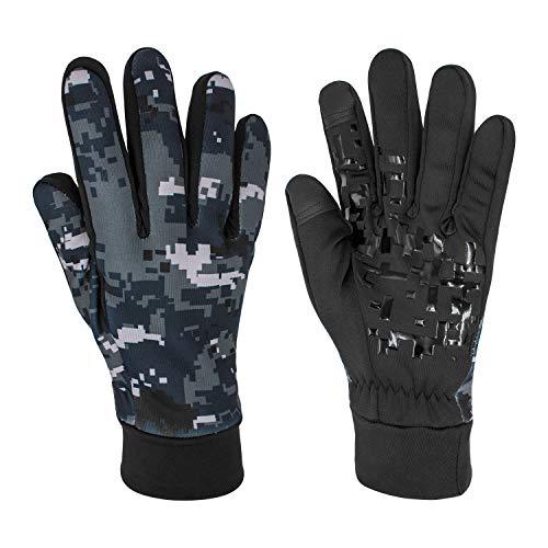 KUPVALON Guantes Moto Invierno/Otoño para Hombre y Mujer con Pantanlla Tactil en los Dedos,Impermeable Guantes Transpirables con Proteccion para Entretiempo (Tamaño M/L/XL)