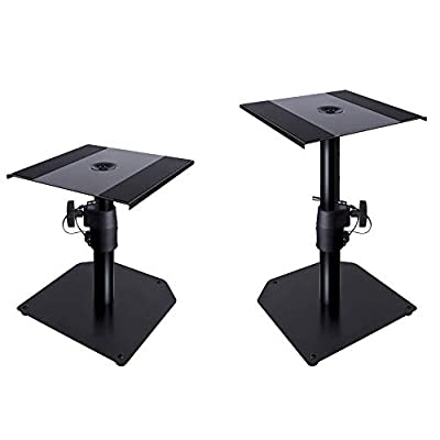 Novopro SMS50R Desktop Speaker Studio Monitor Stands Table Top Height Adjustable (Pair)