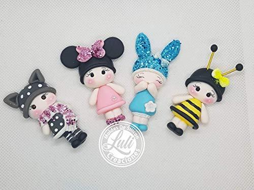 Muñeca doll porcelana fria centro lazos, moños, arcos, apliques 🔥