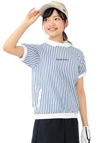 (ビームスゴルフ)BEAMS GOLF/ポロシャツ ORANGE LABEL クールマックス サッカー ポロシャツ レディース SAX M
