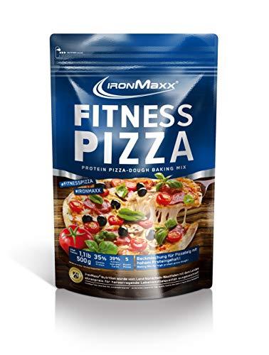 IronMaxx Fitness Pizza - low carb Backmichung für Pizzateig mit 35 Prozent Proteingehalt für den Muskelaufbau - 500g Packung