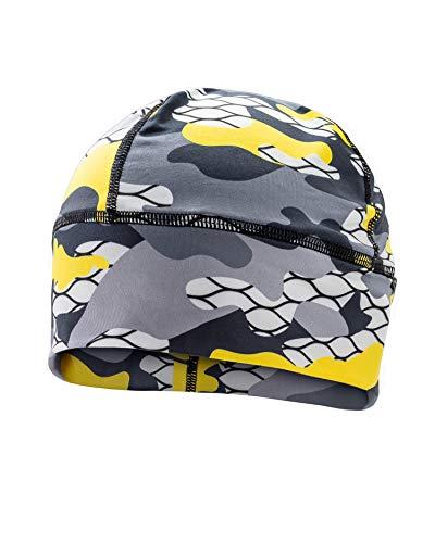 SLS3 Running Beanie für Herren und Damen | Multisport Funktionsmütze | Super Weiches Fleece | Ideal Zum Laufen, Skifahren | Winter Kopfbedeckung | Running Cap | Laufmütze (Yellow Camouflage)
