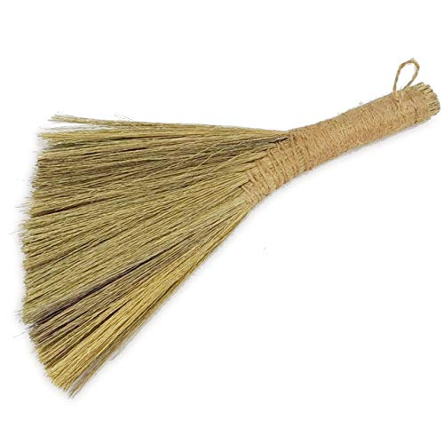 Ann Lee Design Natural Whisk Sweeping Hand Handle Broom (Small and Short, Plain)