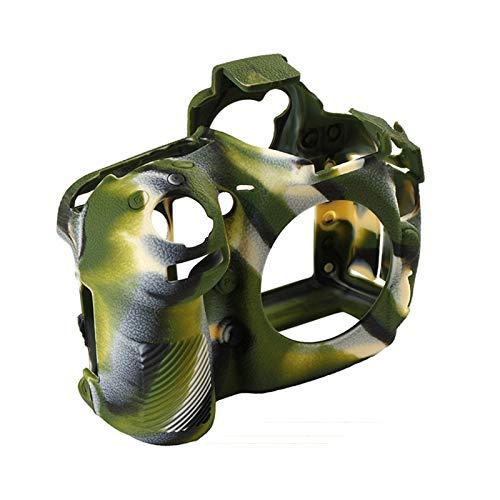 Funda de goma de silicona para cámaras Nikon D810 SLR, protector de cuerpo de la cámara fotográfica, cubierta de piel (color camuflaje)