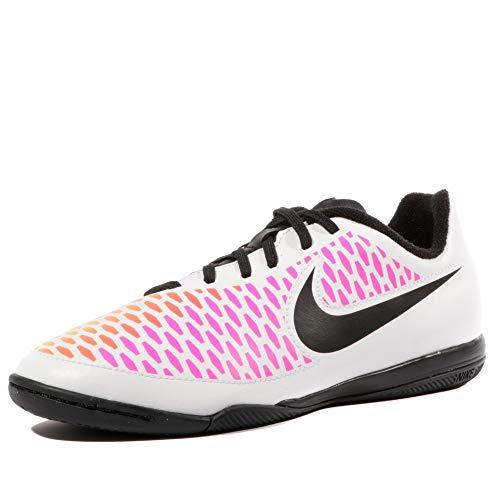 Nike Jr Magista Onda IC, Scarpe da Calcio Unisex-Adulto, Bianco, Nero, Rosa (Pink Blast), Giallo (Volt), 36 EU