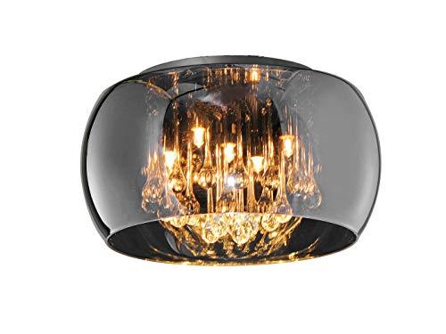 Trio Deckenleuchte Vapore Glas Chrom, Chrom, 40 cm