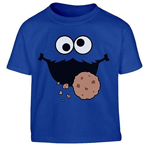 Süßes Karneval & Fasching Keksmonster Krümel Kostüm Jungen Kinder T-Shirt 104 Blau