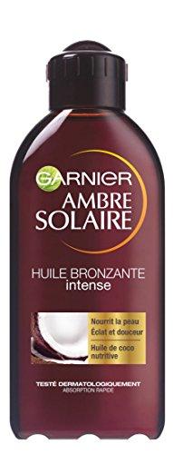 Garnier Ambre Solaire - Huile Bronzante intense aux Senteurs de Coco - FPS 2 - 200 ml