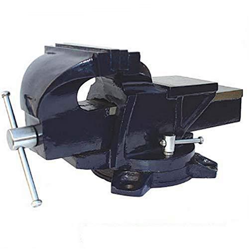 Silverline 656618 Tornillo de Banco con Base Giratoria, Capacidad: 160 mm / 16 kg