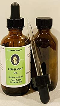 Peppermint Oil Double Distilled- Food Grade 2 Oz with Glass Dropper