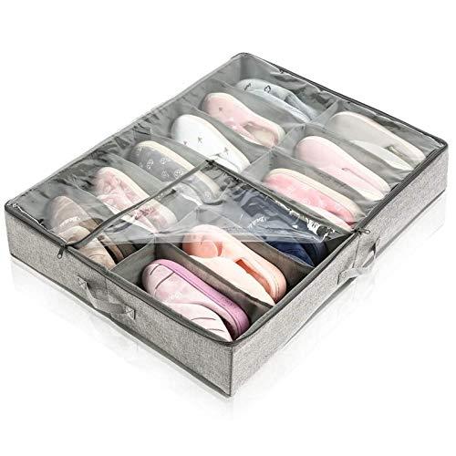 JIAHU Organizador de cajones divisores para armario, plegable, color gris, 1 unidad