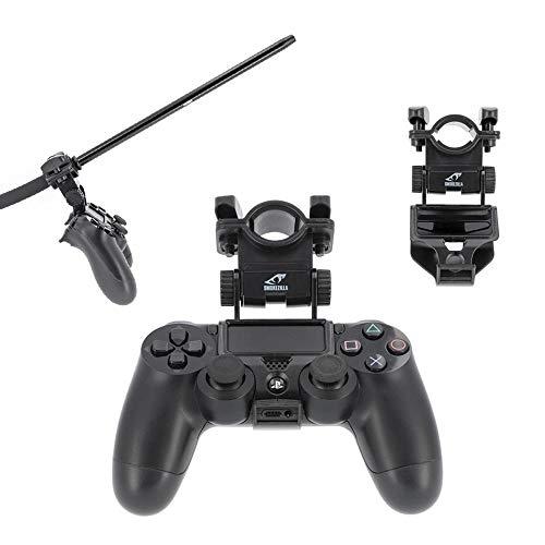 Smokezilla® AXOR BLACK Halterung für Shisha-Mundstück | PS4 Playstation Controller Halter (schwarz)