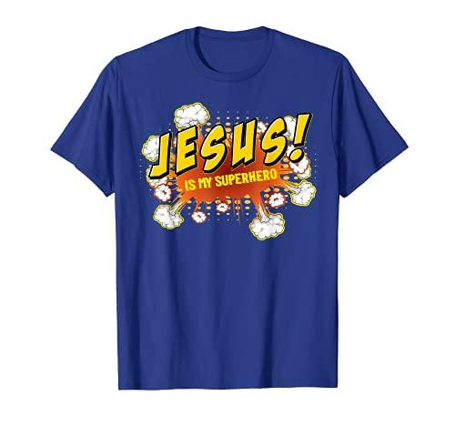 Jesus Is My Superhero Cute Powerful Christian Gift Comic T-Shirt