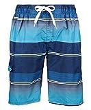 Kanu Surf Men's Miles Swim Trunks (Regular & Extended Sizes), Sandbar Navy, Large