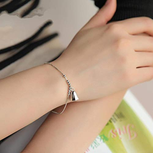 QFJCNZ Pulsera Wind Chimes Small Bell Charm Fashion Bracelets For Girl Cute Lovely Thin Chain Bracelets Women Birthday Gift