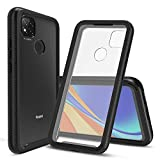 CBUS Heavy-Duty Phone Case with Built-in Screen Protector Cover for XiaoMi RedMi 9C –– Full Body (Black)