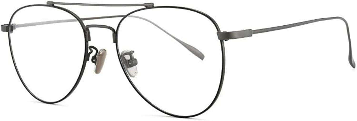 Antibluee Radiation Glasses no Degree Flat Mirror Trend Round Frame Men and Women with The Same Gun color