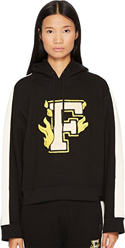 Puma Womens Fenty by Rihanna Hooded Panel Sweatshirt Casual Hoodies & Sweatshirts Athleisure, Black, L