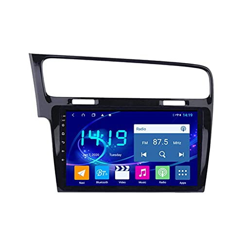 Gndy Car Stereo Android 9.1 Car Radio De Navegación GPS para Volkswagen Golf 7 2014-2018 Pulgada Pantalla LCD Táctil USB WLAN 4.0 Bluetooth Llamadas Manos Libres