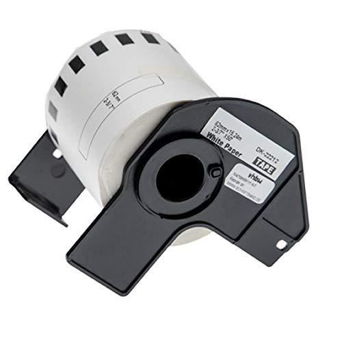 vhbw Etiketten-Rolle 62mm x 15,24m passend für Brother P-Touch QL-500BS, QL-500BW, QL-550, QL-560, QL-560VP, QL-570 Etiketten-Drucker