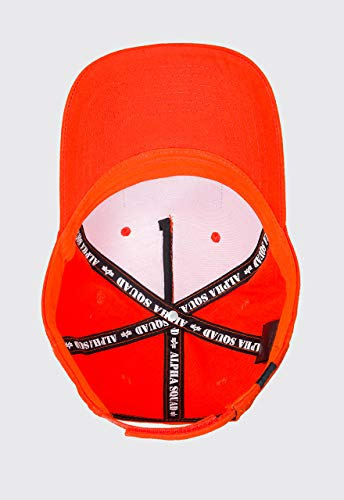 Alpha Industries Unisex Cap VLC Patch, Größe:one size, Farbe:flame orange