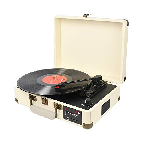 DIGITNOW! Bluetooth Record Player Belt-Drive 3-Speed Turntable Built-in...