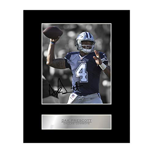 iconic pics Dak Prescott Signed Mounted Photo Display Dallas Cowboys #1 NFL Autographed Gift Picture Print
