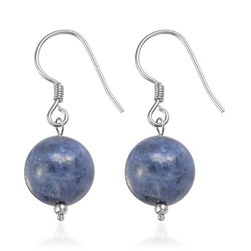 TJC Sodalite Dangle & Drop Hook Earrings for Women in 925 Sterling Silver