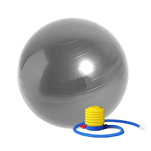 Stability Ball Exercises for a Stronger Core Swiss Yoga Balance Balls (Grey, 55CM) by Jinhua Saide Sporting Goods Co., Ltd.