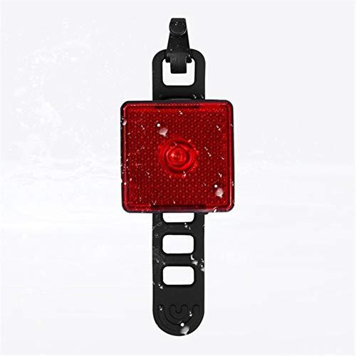 YOBAIH Mini USB Inteligente Ligero de la Bicicleta de Carga Trasera 80 lúmenes de luz de Bicicletas Luces de Advertencia Impermeable de la luz Corriente Foco Reflector Luces para Bicicleta