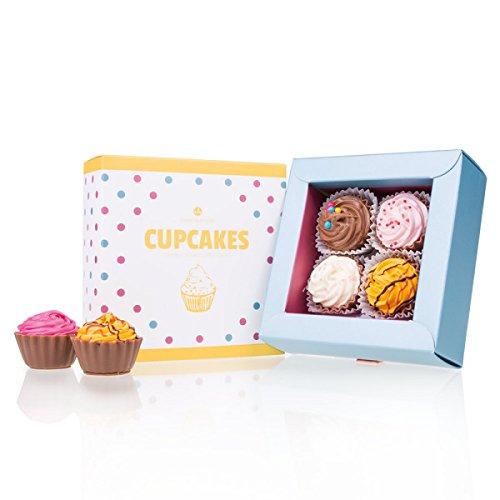 American Cupcakes 4 - vier handgemachte Cupcake-Pralinen | Geburtstag | Schokolade | Geschenk | Geburtstagsgeschenk | Frau | Mann | Pralinen | Schokoladenpralinen | Vater | Mutter | Oma | Opa
