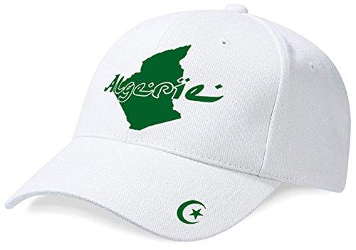 DASHOP Casquette Algérie Mini Pays Blanc et Vert Émeraude