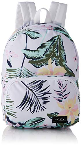 Roxy Always Core Printed-Backpack, Mujer, Bright White PRASLIN, One Size