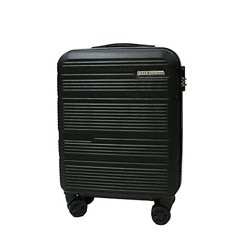 COVERI COLLECTION Trolley rigido utilizzabile come bagaglio a mano, approvato dalla maggior parte delle compagnie aeree low cost, 55 cm, Grigio Scuro
