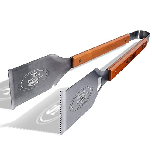 Great Price! NFL San Francisco 49ers Grill-A-Tong Stainless Steel BBQ Tongs