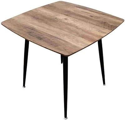 ZONS BLACKUS Table carré de Salle à Manger Style Vintage, Bois et Noir,