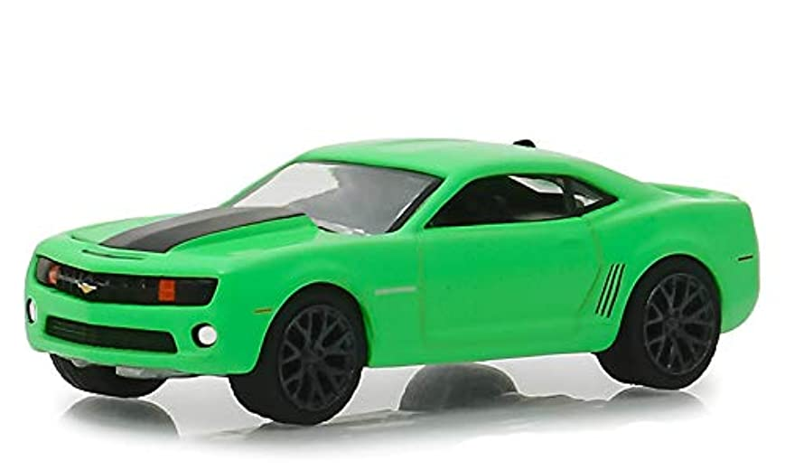 バーベキューによって王族2012 Chevrolet Camaro SS グリーン w/ブラック ストライプ タートル ワックス アイス スマートシールドテクノロジー タートル ワックス 広告 車 1/64 ダイキャストモデル カー Greenlight 30019