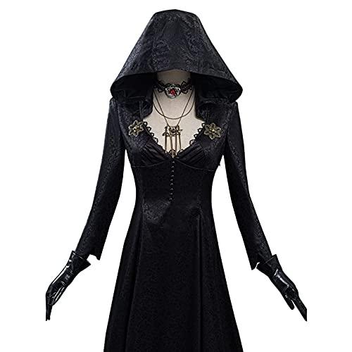 JIAQUAN-SHOP Capa de Halloween Halloween Capas Capas Cosplay Disfraz Vampire Lady Dress Outfits Halloween Carnival Traje,Color:Negro Decoracin de Halloween (Size : A-XXXL)