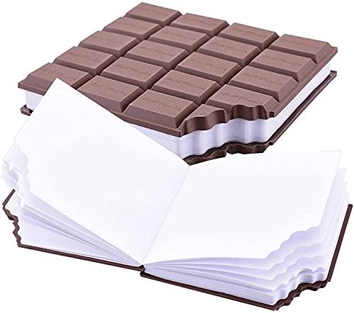 LM BOOM Block Notes 2 pz - taccuino quadernini per bambini blocco appunti forma cioccolato oggetti particolari blocco note taccuino tascabile - idee regalo idee per regali originali particolari