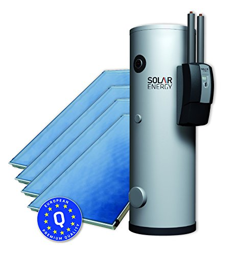 Solaranlage Warmwasser Trinkwasser Brauchwasser Komplettpaket 5 m² 300 Liter Solarspeicher Komplettset Bafa förderfähig