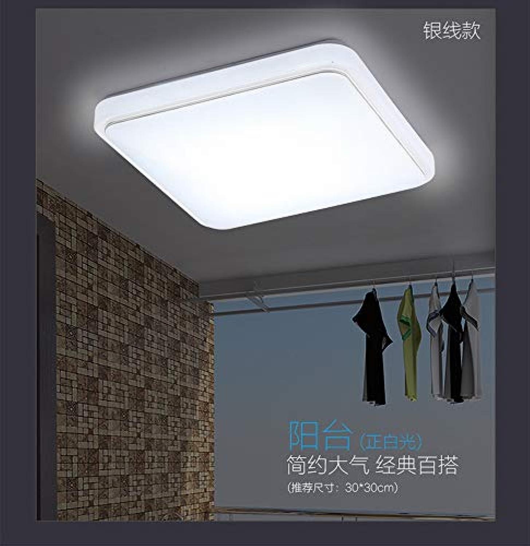 MackeJacke Einfache Quadratische Beleuchtung Deckenleuchte Wohnzimmer Schlafzimmer Beleuchtung Deckenlampe 27  27Cm 18W Weies Licht