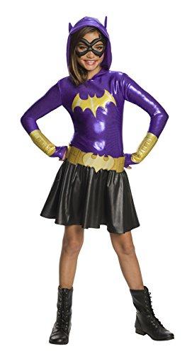Rubie's DC Super Hero Girls Hoodie Dress Childrens Costume, Batgirl, Small