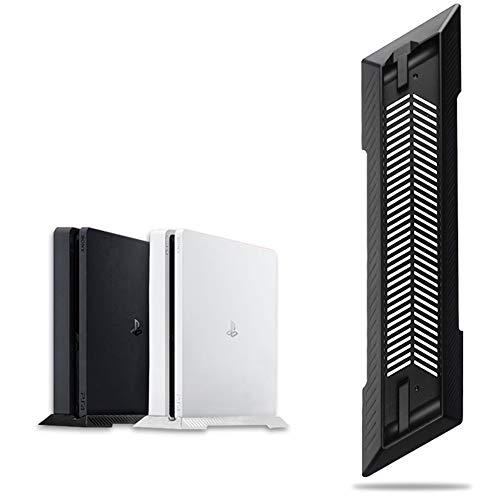 Ventiladores de refrigeración incorporados Soporte PS4 con soporte vertical de pies antideslizantes, adecuado para soporte de montaje de base para consola de juegos Sony...